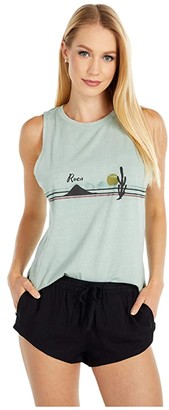 RVCA Open Plains Tank (Dusty Teal) Women's Clothing