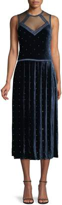 Fendi Embellished Sleeveless Evening Dress