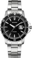 Sekonda Men's Quartz Watch with Black Dial Analogue Display and Silver Stainless Steel Bracelet 1042.27