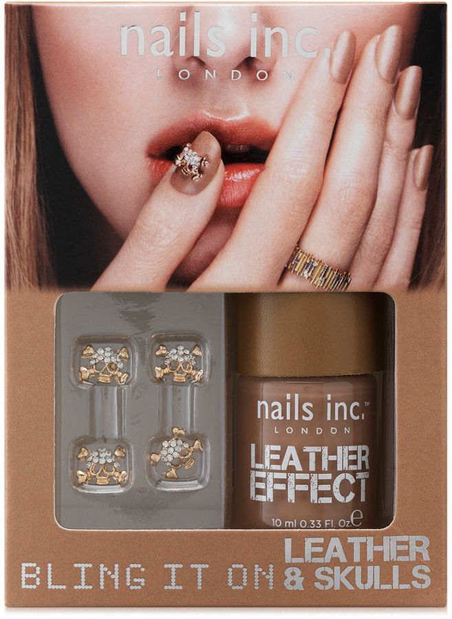 Nails Inc Bling It On Leather and Skulls Tan Collection