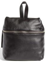 Kara Mini Pebbled Leather Backpack - Black