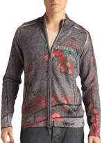 Ed Hardy Mens Graffiti And Fire Zip Up Sweater