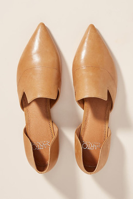 Franco Sarto Sarto by Pointed-Toe Flats By in Brown Size 9