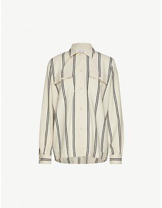 Samsoe & Samsoe Lulla striped organic cotton-blend shirt