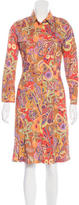 Etro Paisley Print Button-Up Dress