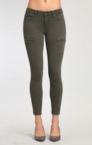 Mavi Jeans Karlina Zip Skinny In Military Twill