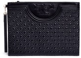 Tory Burch 'Fleming' large quilted leather pouch