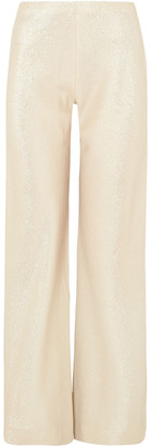 Rosetta Getty Metallic Crepe Wide-leg Pants