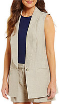 MICHAEL Michael Kors Washed Linen Shawl Collar Vest