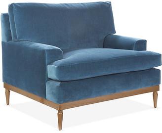 One Kings Lane Sutton Club Chair - Harbor Blue Velvet