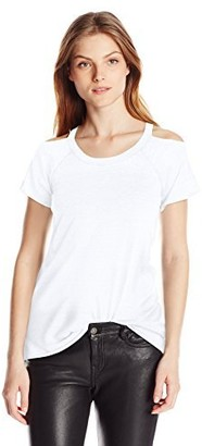 Chaser Women's Vintage Jersey Deconstructed Cold Shoulder S/s Tee