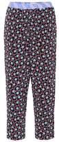 Marni Cropped silk-blend trousers