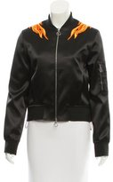 Paco Rabanne Satin Bomber Jacket w/ Tags
