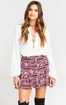 MUMU Skater Stretch Skirt ~ Plum Paisley