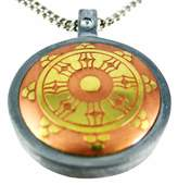 Things2Die4 The Dharma Wheel Brass & Steel Pendant / Necklace