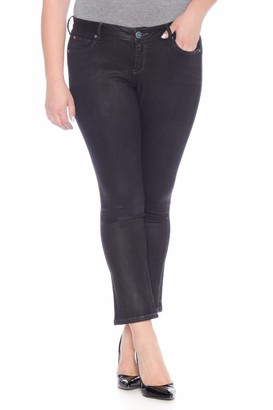 SLINK Jeans The Coated Straight Jean in Black Size ZOEY