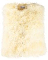 RED Valentino cropped turkey feather embellished gilet