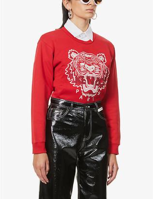 Kenzo Tiger-print cotton-jersey sweatshirt