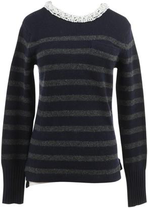 Sacai Luck Navy Wool Knitwear for Women