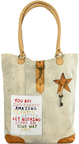 Vintage Addiction Tan 'You Are Super Duper Amazing' Canvas Tote