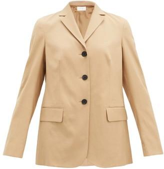 The Row Faikra Single-breasted Twill Jacket - Beige