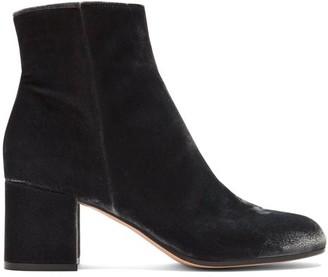 Gianvito Rossi Margaux 60 Velvet Ankle Boots - Dark Grey