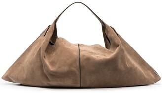 Brunello Cucinelli Suede Hobo Tote Bag