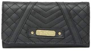 Jessica Simpson Quilted Flap Checkbook