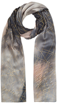 Jigsaw Golden Storm Silk Scarf, Multi
