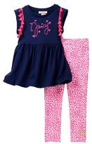 Juicy Couture Pompom Tunic & Legging Set (Toddler Girls)