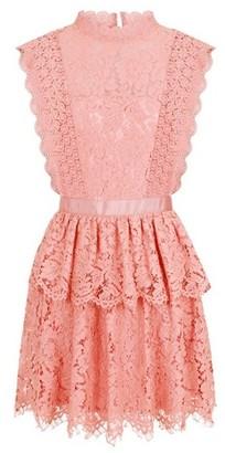 Dorothy Perkins Womens **Girls On Film Dark Pink Lace Dress, Pink