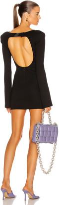 ATTICO Open Back Mini Dress in Black | FWRD