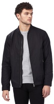 Red Herring Big And Tall Black Bomber Jacket