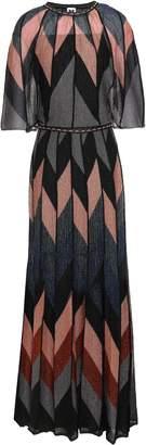 M Missoni Printed Metallic Knitted Maxi Dress