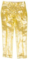Tory Burch Silk Foil Print Pants