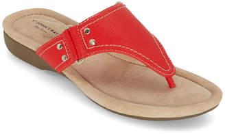 ST. JOHN'S BAY Womens Zunyi T-Strap Flat Sandals