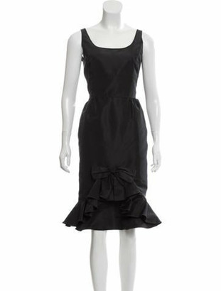 Oscar de la Renta Sleeveless Midi Dress w/ Tags Black
