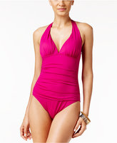 Lauren Ralph Lauren One-Piece Tummy Control Halter Swimsuit
