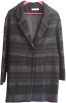 Sessun Anthracite Wool Coat for Women