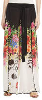 Johnny Was Maya Floral-Print Wrap Pants, Plus Size