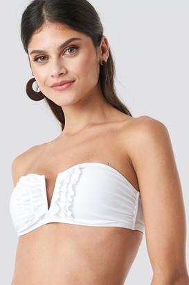 NA-KD Frill Deep V Bandeau Bikini