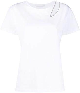 Fabiana Filippi embellished cut-out T-shirt