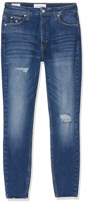Calvin Klein Jeans Women's HIGH Rise Super Skinny Ankle Jeans