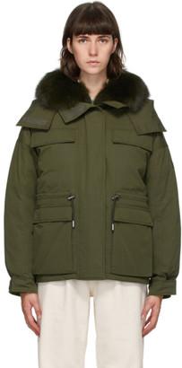 Yves Salomon   Army Yves Salomon - Army Green Down Bachette Jacket