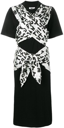 MM6 MAISON MARGIELA Ribbon Tied Jersey Dress