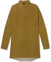 Balenciaga Oversized Button-Down Collar Paisley-Print Brushed-Twill Shirt
