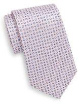 Saks Fifth Avenue Circle-Print Silk Tie