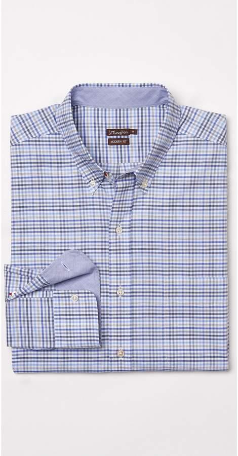 J.Mclaughlin Westend Modern Fit Shirt in Mini Check