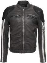 Redskins Roca Calista Leather Jacket Elephant/black