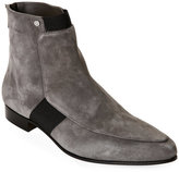 Jimmy Choo Grey Malice Almond Toe Low Heel Ankle Booties